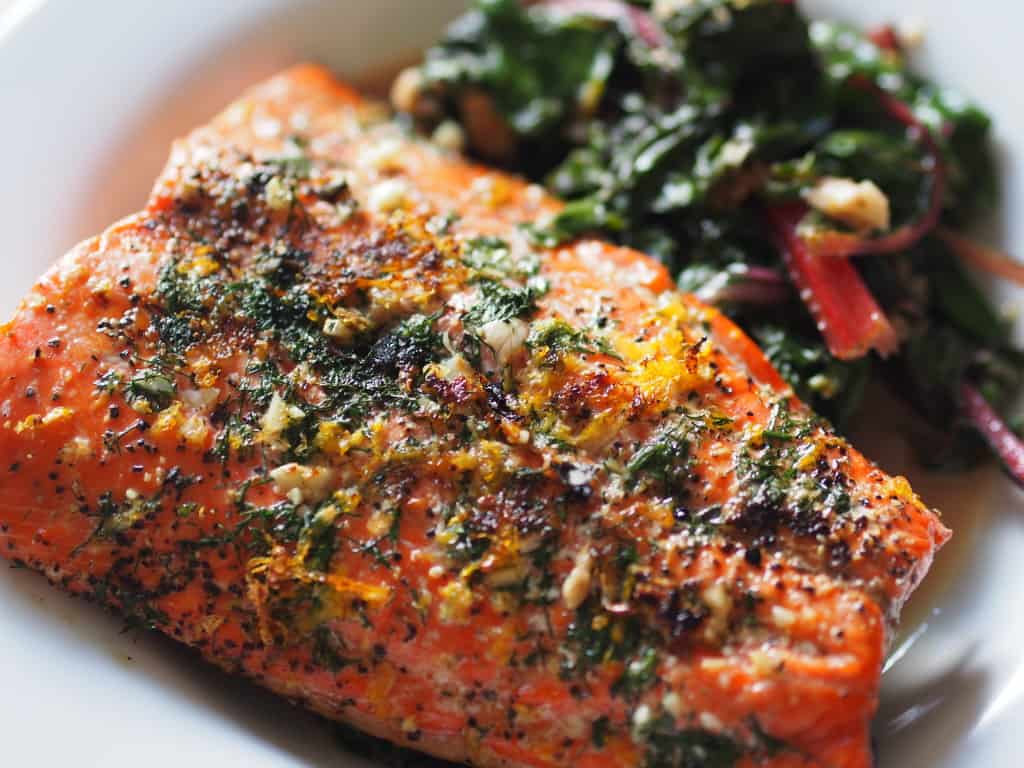 Super savory and easy salmon supper!