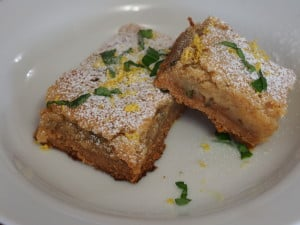 Lemon Basil Bars