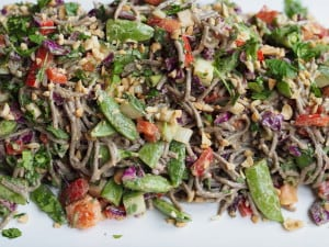 Soba Noodle Salad with Asian Peanut Dressing