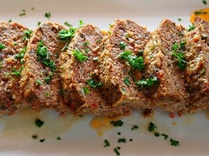 Meatloaf with Pancetta and Mushrooms