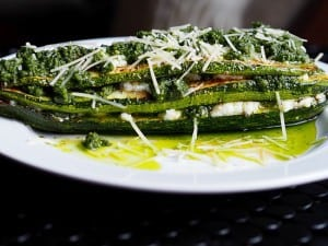 Zucchini and Pesto Stack