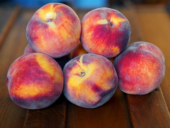 Beautiful Palisade Peaches! So pretty that I almost didn't want to eat them! Um, that would be a no, I ate them...