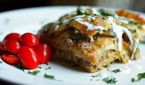 Green Chili Enchilada Lasagna