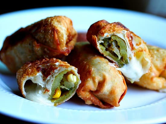 Egg rolls stuffed with guess what? Hatch chilies and veges and cheese. I'm kinda an addict as you have probably noticed!