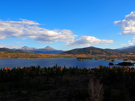 The colors were amazing looking towards Breckenridge. Baldy and Geot mountains are in the background.