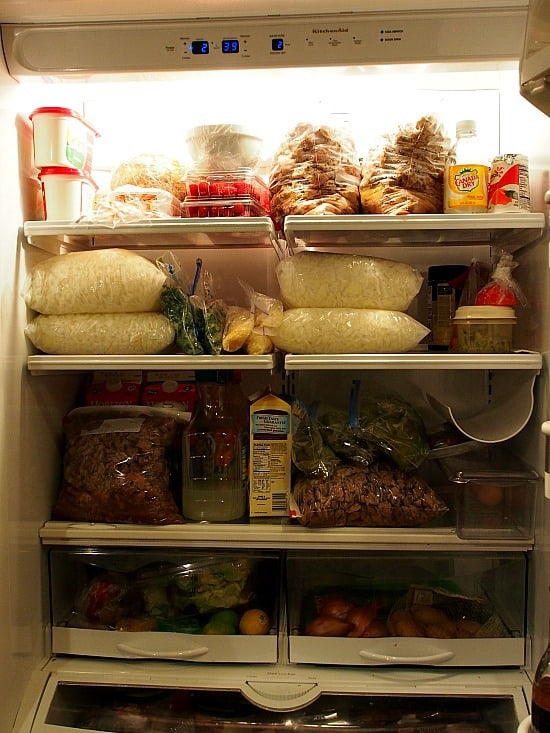 Who the hell takes a picture of the refrigerator? I do! Holy cow! That's a lot of prep!