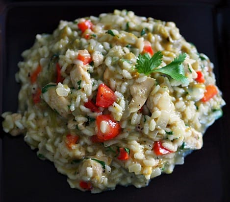 Risotto with an unexpected twist. It's so versatile- you can do just about anything with it! Yum-me!