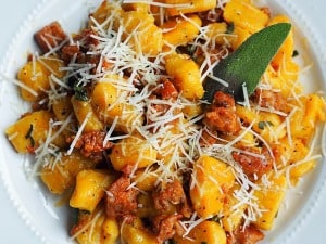 Butternut Squash Gnocchi with Sausage Brown Butter