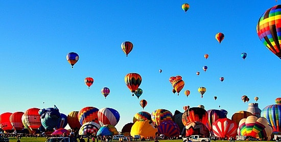 Here are some of the balloons that went up during the first waves. I was in awe of all the colors. Simply amazing!