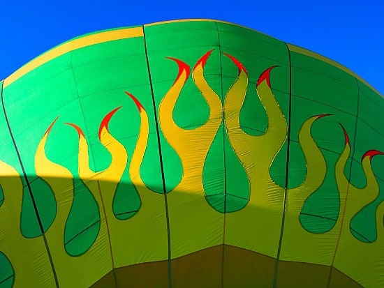 Fully inflated, ready to fly!
