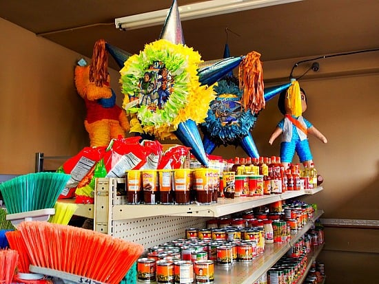 Pinata anyone, need a broom? Got to love a little store that sells the staples, tortillas. Why wouldn't they sell a brooms and pinata's?