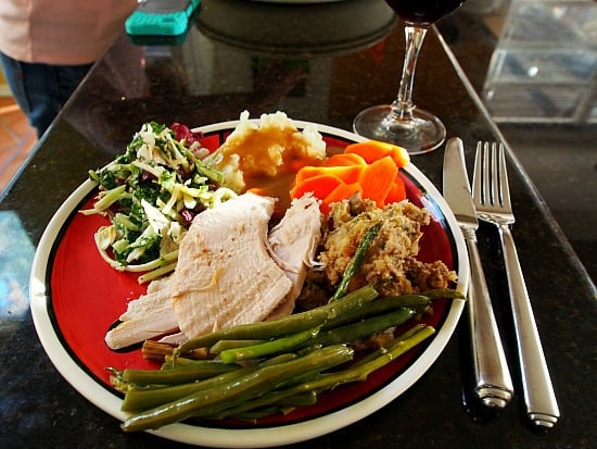 Turkey dinner, round one, In October no less! Yum-me!
