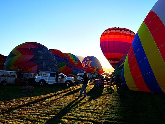 Balloons and a sunrise. Nuf said...