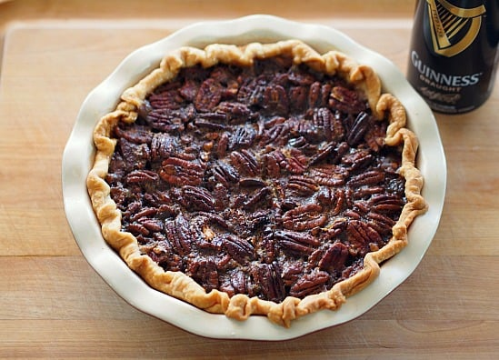 Calorie bomb central! Who can resist? I had a wild hair and decided that even a Pecan Pie needs a little Guinness every now and then!
