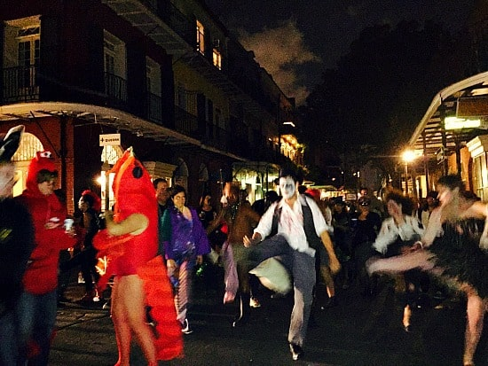 "Dance broke out in the street! So cool to watch 100 people or so preform the ""Thriller"" !"