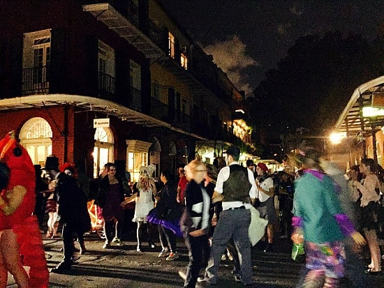 Frenchman Street in NOLA brings out all kinds of great costumes on Halloween!