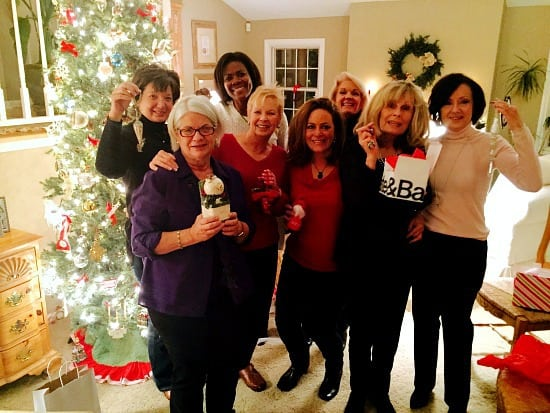 """The """"Classic"""" ladies. We have been doing an ornament exchange for 15 years+. It's always a lovely evening with lovely ladies."""