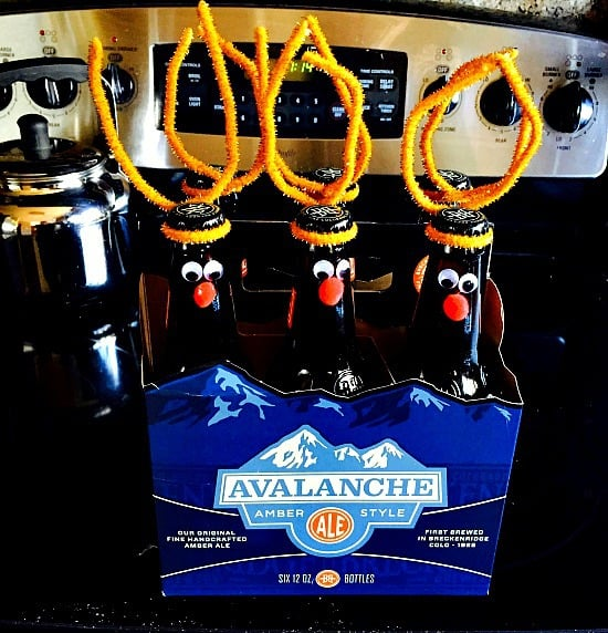 """My gift for a white elephant party. """"Reinbeers"""". Nuf said..."""