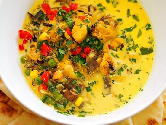 Curried Wild Rice and Chicken Soup