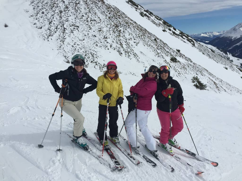 Me and the girls. Skiing St. Anton. Shannon, Fiona, Me and Annalisa. Whoop-it-up...