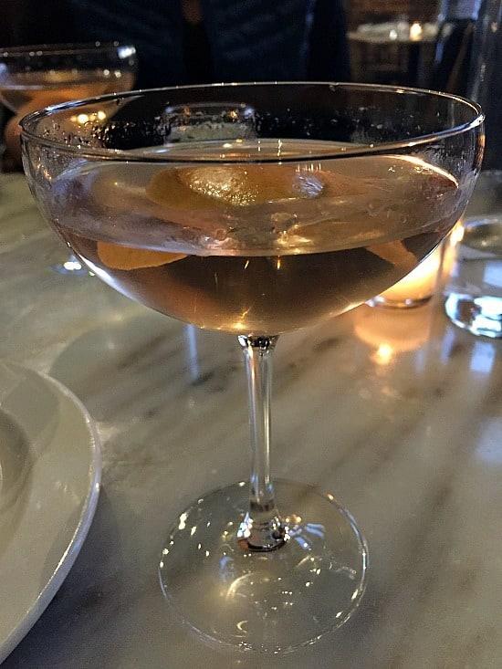 Grapefruit infused martini