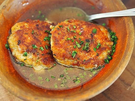 Cheese Dumpling Soup- Grießnockerlsuppe