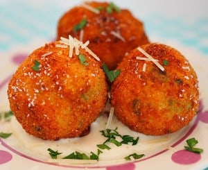 Arancini with Ham and Asparagus