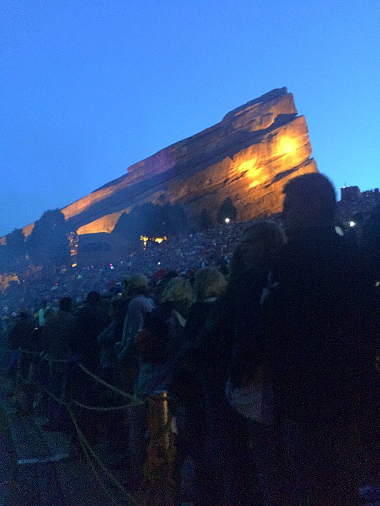 Red Rocks at night. The ultimate venue for a concert, hands down!
