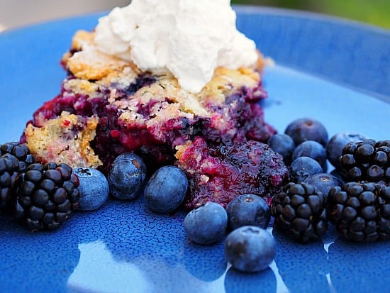 """Black and Blue"" Berry Cobbler"