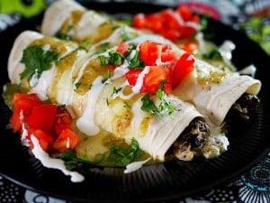 Portobello Mushroom & Chicken Enchiladas