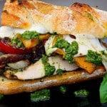 Pesto Grilled Chicken and Vege Sandwich