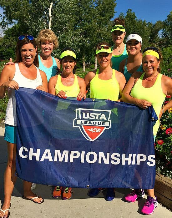 The ladies of Lone Tree tennis team. Such an honor to be able to play in the State finals.