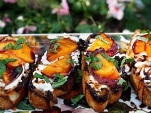 Grilled Fruit Bruchetta