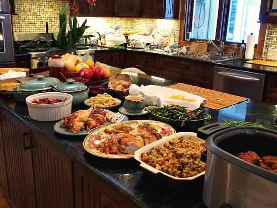We had a huge spread! Two kinds of turkey, short ribs and all the fixins!
