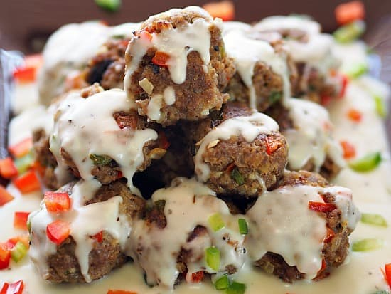 Philly Cheese Steak Meatballs