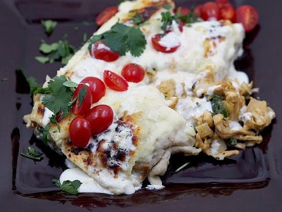 Chicken Suiza Enchiladas