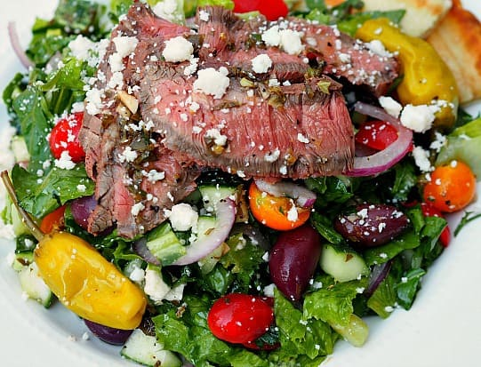 Greek Steak Salad