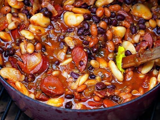 Mile High Baked Beans