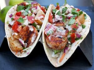 Blackened Seafood Tacos