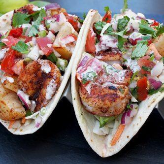 Blackened Seafood Tacos