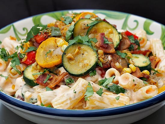 Southwestern Summer Cheesy Pasta