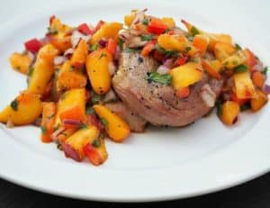 Southwest Beer Brined Pork and Peach Salsa
