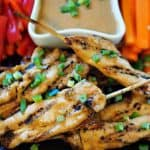 Chicken Satay with Sesame Dipping Sauce