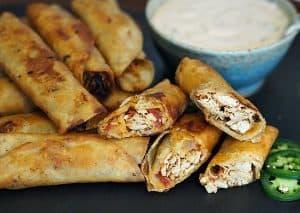 Spicy Chicken Flautas