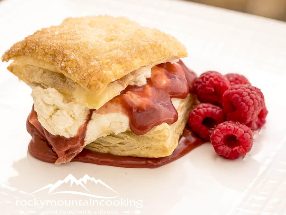 Raspberry Curd Love Pastries