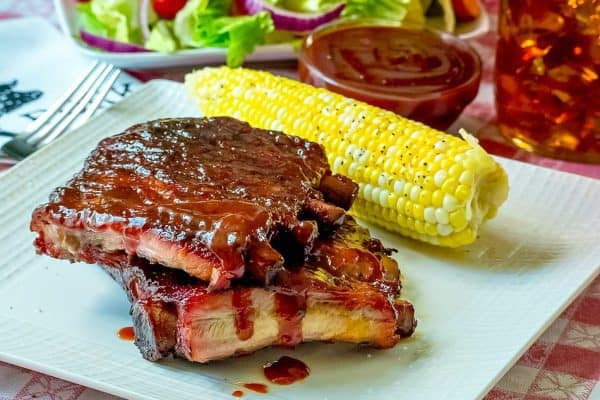 Bourbon Whiskey BBQ Sauce Ribs