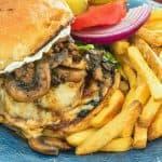 Teriyaki Mushroom Swiss Burger