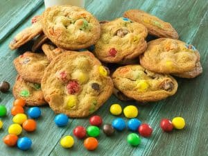 Outrageous Caramel M&M's Cookies