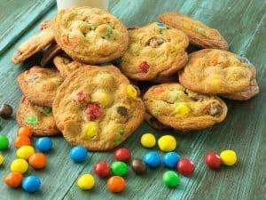 Outrageous Caramel M&M's Cookies