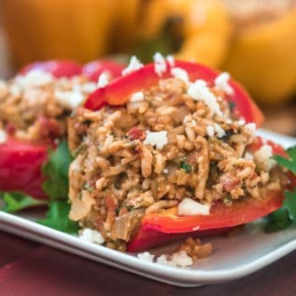 Green Chili Stuffed Peppers